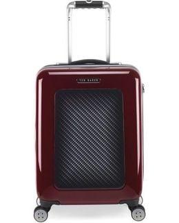 'small Burgundy' Four Wheel Suitcase - Burgundy