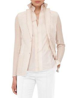 Cotton & Silk Seersucker Jacket