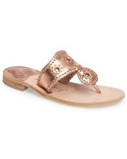 Hamptons Metallic Flip Flop