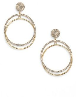 Ring It Up Drop Hoop Earrings