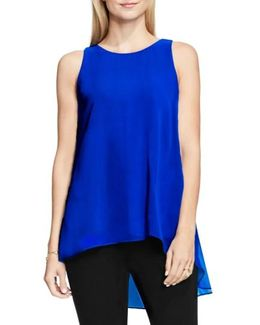 Sleeveless Crepe High/low Top