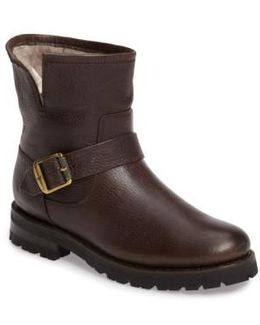 Natalie Genuine Shearling Water Resistant Engineer Boot