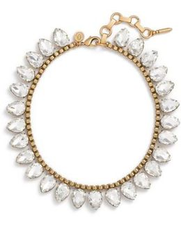 'sylvia' Crystal Collar Necklace