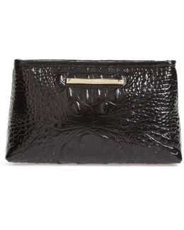 Marney Croc Embossed Zip Pouch