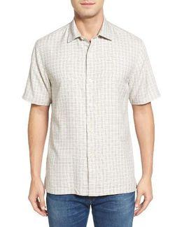 Geo Getaway Standard Fit Print Silk Camp Shirt