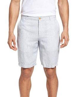 Shoreline Stripe Linen Shorts