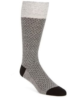 Dog Bone Texture Crew Socks