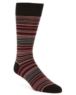 Multi Stripe Crew Socks