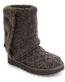 ® Classic Cardy Button Detailed Knit Boots
