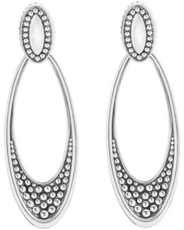 'signature Caviar' Omega Drop Earrings