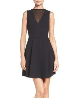 Voila Stretch Fit-and-Flare Dress