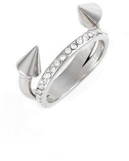 Ultra Mini Titan Crystal Band Ring