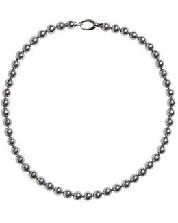 7mm Round Simulated Pearl Strand Necklace