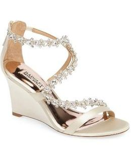 Bennet Embellished Wedge Sandal