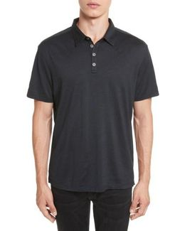 'hampton' Silk & Cotton Polo