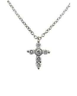 Diamond Mini Cross Necklace (nordstrom Exclusive)