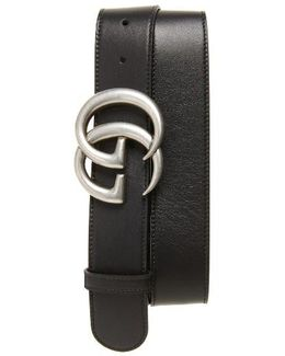 Logo Leather Belt