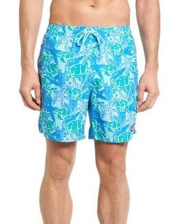 Turtle Starfish Bungalow Swim Trunks