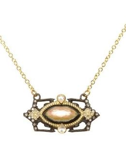Old World Marquis Diamond Pendant Necklace