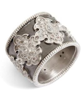 New World Scroll Diamond Band Ring