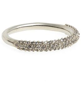 Pave Halo Grey Diamond Ring