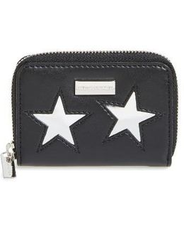 Lame Stars Faux Leather Coin Purse