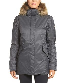 Hilton Waterproof Parka With Faux-fur Trim