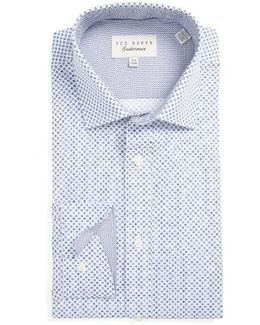 Gould Trim Fit Geometric Dress Shirt