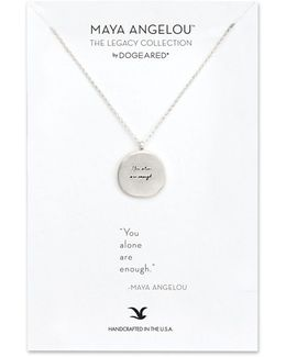 'legacy Collection - You Alone Are Enough' Pendant Necklace