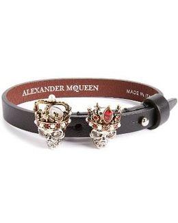 King & Queen Skull Bracelet