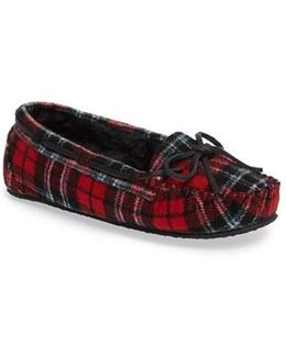 Cally Plaid Faux Fur Lined Slippers