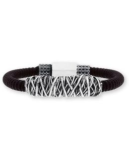Twisted Metal Cord Bracelet
