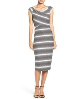 Stripe Jersey Sheath Dress