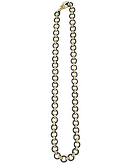 'caviar Gold' Gold Link Necklace