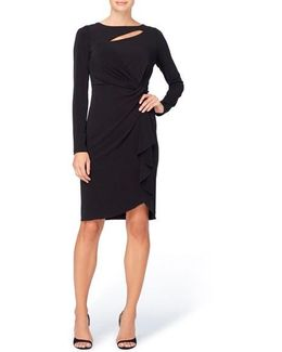 Gertie Keyhole Twist Front Sheath Dress