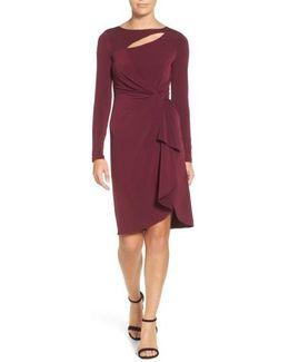 Gertie Keyhole Twist Front Sheath Dress