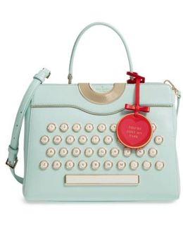 Be Mine - Typewriter Leather Satchel