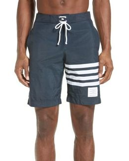4-bar Print Tech Board Shorts