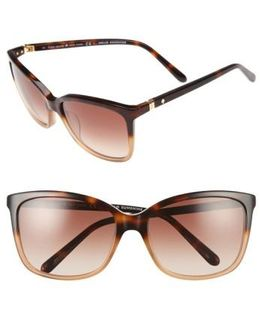Kasie 55mm Cat Eye Sunglasses - Havana/ Nude