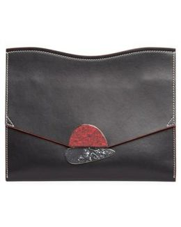 Medium Calfskin Leather Clutch