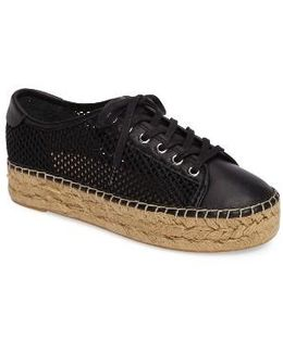 Macey Perforated Espadrille Platform Sneaker