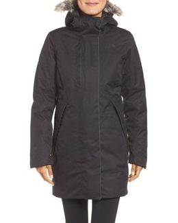 Far Northern Waterproof Down Parka With Faux Fur Trim