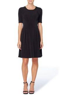 Jonni Pleat Jersey Fit & Flare Dress