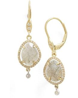 Meirat Diamond & Semiprecious Stone Drop Earrings