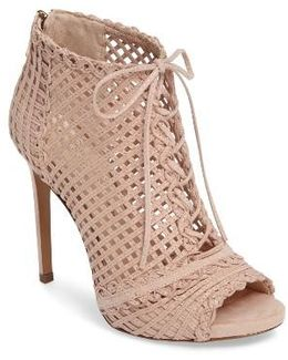 Rendy Latticework Peep Toe Bootie