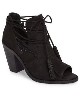 Ceri Split Shaft Open Toe Bootie