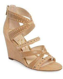 Zenolia Strappy Embellished Wedge