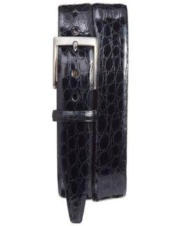 Caiman Alligator Leather Belt