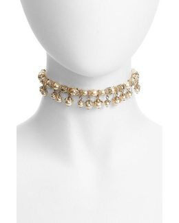 Imitation Pearl Choker Necklace