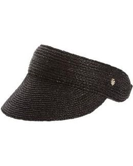 Packable Raffia Visor